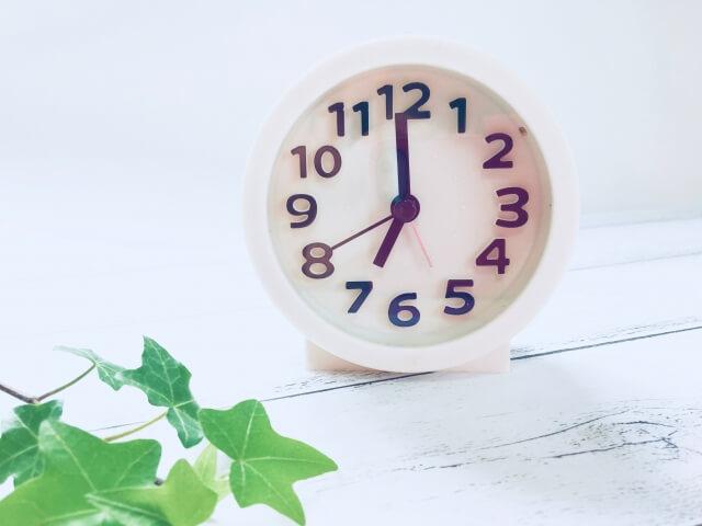 白地に黒のアナログ時計